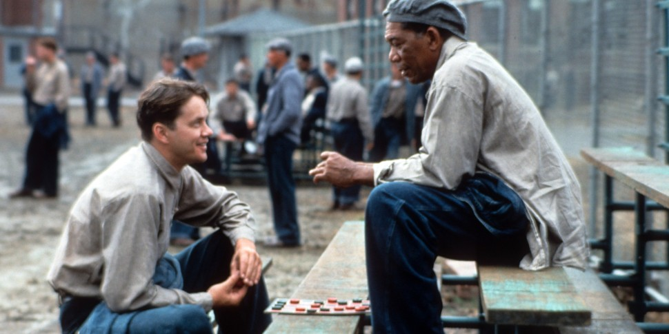 Tim Robbins And Morgan Freeman In 'The Shawshank Redemption'